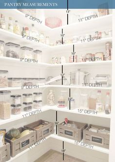 All White Pantry Design With Measurments To Help You DIY Your Pantry  Shelving   Shelterness Part 96