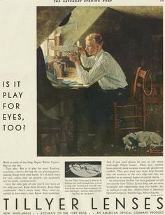 Norman Rockwell Lens Advertising on Saturday Evening Post