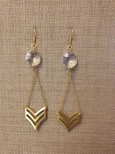 Elladolce chevron earrings!! only $24.00 and amazing!!!!