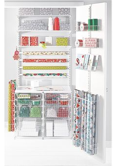 Holy wrapping paper organization!!!  I need this!!!