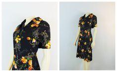 Vintage Dress 60s 70s Mad Men Day Dress by 2sweet4wordsVintage