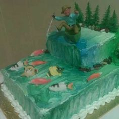 Gone Fishing cake