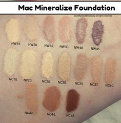 Mac Face And Body Foundation Swatches C1 C3 C4 C6 C9 Swatches Body Foundation