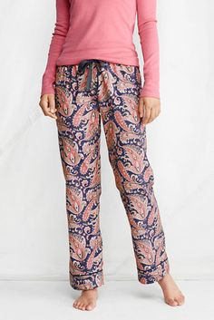 Women's Print Flannel Sleep Pants from Lands' End