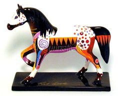 12261 Prairie Horizon ceramic horse 1e8896 signed by Bob Coonts, left side