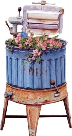 4shared - View all images at COUNTRY 2010 - 2 folder (OMG! My grandma had one of these even though she never used it anymore. She'd advanced to the old square gray Maytag even before Mom and Daddy got married. She kept it and used it pretty much like this one, as a planter.)