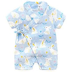 YOUNGER TREE Baby Kimono Robe Clothes Newborn Cotton Yarn Bodysuit Infant Japanese Pajamas 0-24 Months Outfits