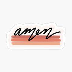 Amen Color Sticker Sticker by mermaidnelly
