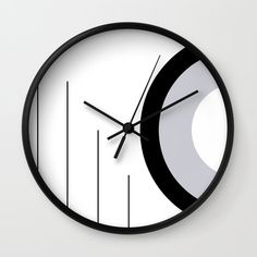 Lines and Curves # 4 - Black & White - Set 1 Wall Clock by laec Clocks, Curves, Black And White, Creative, Wall, Artwork, Work Of Art, Auguste Rodin Artwork