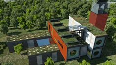 Shipping container homes are the perfect blend of modern architecture and sensible green building. Buy your own used cargo container on sale and start building today! Cargo Container Homes, Shipping Container Home Designs, Container Buildings, Container Architecture, Container House Plans, Container House Design, Architecture Design, Shipping Containers, Container Houses