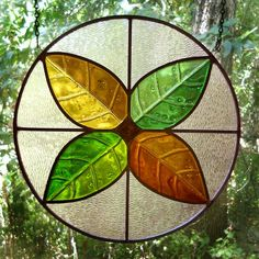 Four Seasons Fused and Leaded Glass by LeadedGlassWorks, $140.00