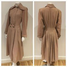 Vintage 40s original Arnold Constable princess fit n flare camel coat 8 10 S  £150.00 (19B)
