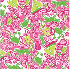 Love this pink and green Lily Pulitzer pattern!
