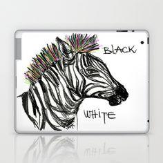 Black White Laptop & iPad Skin by sladja - $25.00 Laptop Skin, Moose Art, Ipad, Black And White, Animals, Animales, Black N White, Animaux, Black White