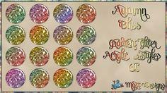 Autumn Bliss - Gradient Glitter Acrylic Styles CU