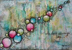 """Transition"" (c) Susie King Mixed Media Art Journal"