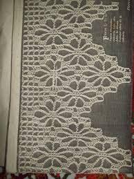 Resultado de imagem para patrones puntillas crochet para toallas