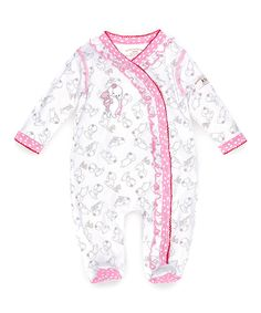 Another great find on #zulily! Bunnies by the Bay White & Pink Blossom's Playsuit by Bunnies by the Bay #zulilyfinds