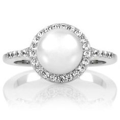 Pearl Diamond engagement ring!