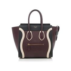 Pre-Owned Celine Smooth Calfskin Micro Luggage Tote (37.550 ARS) ❤ liked on Polyvore featuring bags, handbags, tote bags, multi, pocket tote, zippered tote, handbags totes, tote handbags and zipper handbag