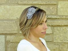 Adult Headband Shabby Chic Headband in Silver by YourFinalTouch, $9.95
