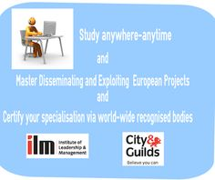 """Enhance your professional skills and employability as well as boost the added value of any european funded project by participating in our course """"Effective Dissemination and Exploitation of. Certificate, Leadership, Management, Wellness, Learning, City, Board, Projects, Log Projects"""