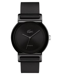 Lacoste Watch, Tokyo Black Silicone Strap 39mm 2000701 - Men's Watches - Jewelry & Watches - Macy's