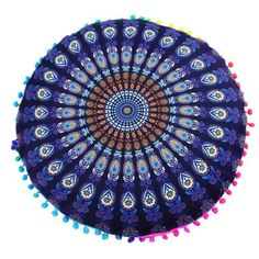 Indian Mandala Floor Pillows Round Bohemian Pillows Cover Case Home Winter Warm Bedroom Living Room Boho Cushions, Bohemian Pillows, Diy Pillows, Decorative Pillows, Sofa Cushion Covers, Throw Pillow Covers, Giant Floor Pillows, Round Floor Pillow, Black And White