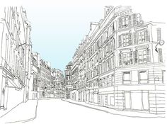A street in St. Germain District in Paris.