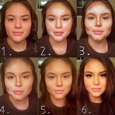 Sminke før og etter