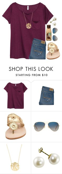 """{got this shirt yesterday}"" by preppy-southern-girl-1-2-3 ❤ liked on Polyvore featuring H&M, Abercrombie & Fitch, Jack Rogers, Ray-Ban and Moon and Lola"