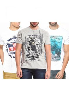 Combo Of 3 Wrangler Assorted Men T-Shirts Price: Rs.899/- Only!! Limited Period Offer!! Hurry!!