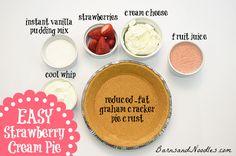Easy Weight Watchers Strawberry Cream Pie