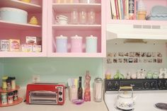 Scathingly Brilliant: apartment tour part 1: my kitchen! (love the canisters)