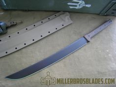 Our swords are available in Z-Wear PM, CPM Z-Tuff PM and 5160 steels Miller Bros. Tactical Swords, Tactical Gloves, Tactical Gear, Tactical Knife, Assassin's Creed Hidden Blade, Zombie Weapons, Weapons Guns, Knife Patterns, Mens Silver Jewelry