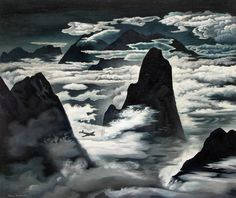 Flying in Colorado | From a unique collection of landscape paintings at https://www.1stdibs.com/art/paintings/landscape-paintings/