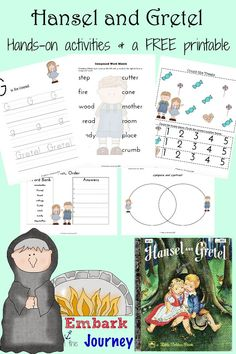 Hansel and Gretel Read-Aloud Activities and FREE Printable | embarkonthejourney.com