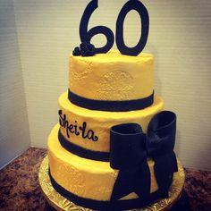 #elegant #cake #embossed #icing #bow #fondant #ribbon