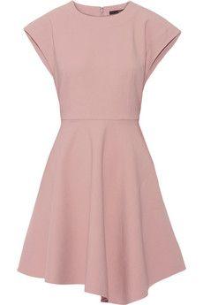 Tibi Anson asymmetric stretch-ponte mini dress | NET-A-PORTER