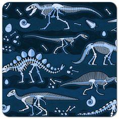 Big Dig Dinos Ocean Cotton Knit