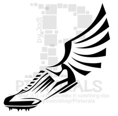 running clipart running shoe with wings clip art 5k pinterest rh pinterest com running shoe clipart images running shoe clip art free