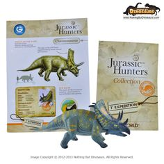 Chasmosaurus - GeoWorld Jurassic Hunters Realistic Dinosaur Collectible Toy Figure Model with Educational Learning Fact Card | Nothing But Dinosaurs