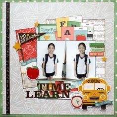 School Scrapbook Layouts, Scrapbook Layout Sketches, Kids Scrapbook, Scrapbooking Layouts, Scrapbook Pages, School Days, Back To School, Teachers Pet, Creative Memories