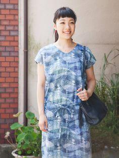 エプロンドレス風ワンピースの製図・型紙と作り方 | nunocoto fabric