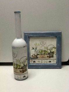 matching bottle and picture