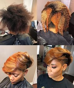 Best Ideas For Short Haircuts : Flawless color via Joya Hennessy blackhairinformat Curly Hair Styles, Natural Hair Styles, Bold Hair Color, Corte Y Color, Pinterest Hair, My Hairstyle, Love Hair, Hair Dos, Short Hair Cuts