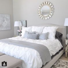 """I was so happy to see my friend Megan @honeywerehome bedroom featured by Z gallerie! So exciting!!! Go check her out! #design…"""