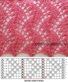 "pl - Scoprire, raccogliere, ispirando ""Fans of lace knitting pattern graph"", ""Jana has a wonderful collection of knitting s Lace Knitting Stitches, Lace Knitting Patterns, Knitting Charts, Lace Patterns, Stitch Patterns, Knitting Machine, Diy Crafts Knitting, Knitting Projects, Kids Knitting"