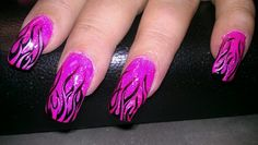 Pink and black flames, I really love these!!