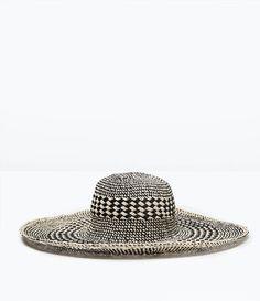 TWO-TONE WIDE BRIM HAT from Zara